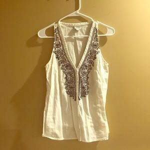 Converse embroidered blouse
